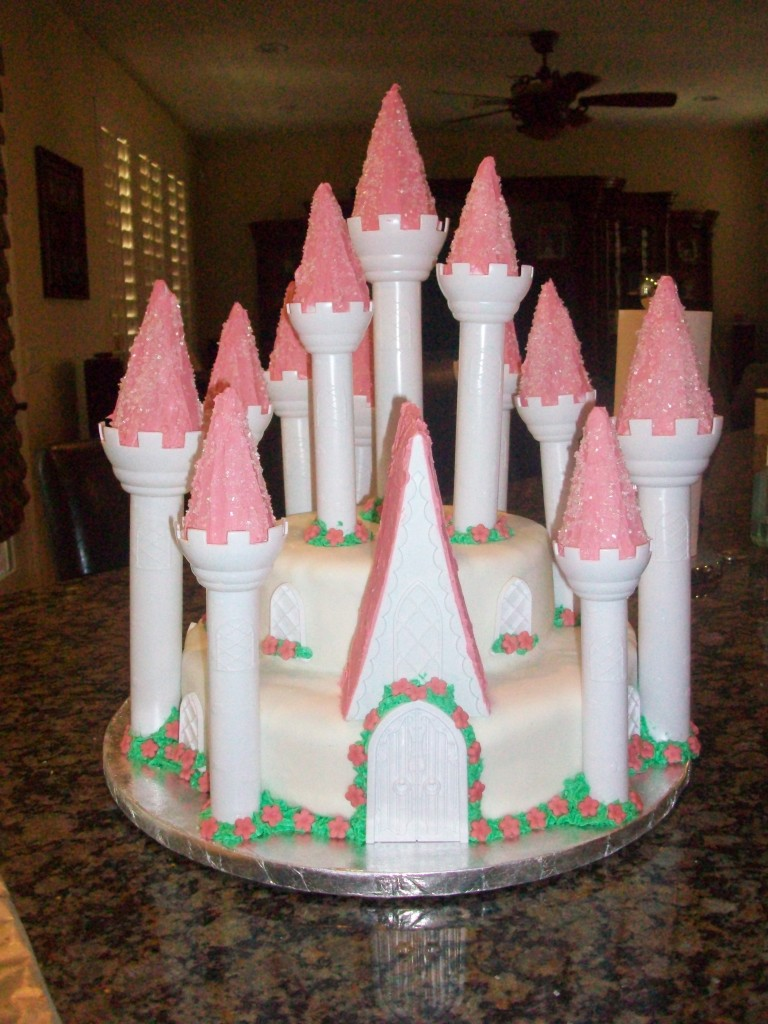 Castle Cake with fondant